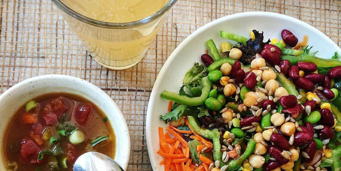 A Buffet of Vegan Options at Sweet Tomatoes and Souplantation