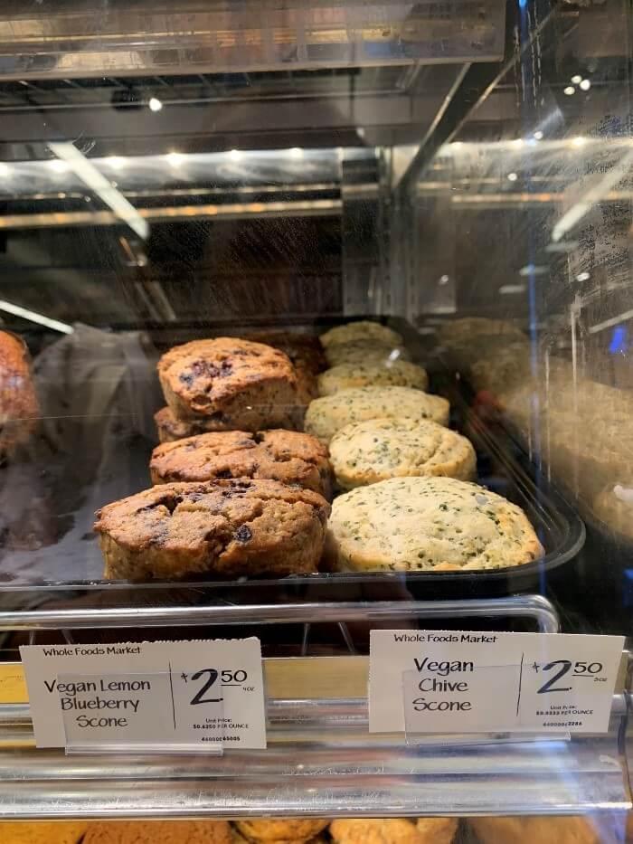Whole Foods Market Vegan Lemon Blueberry Scones and Chive Scones