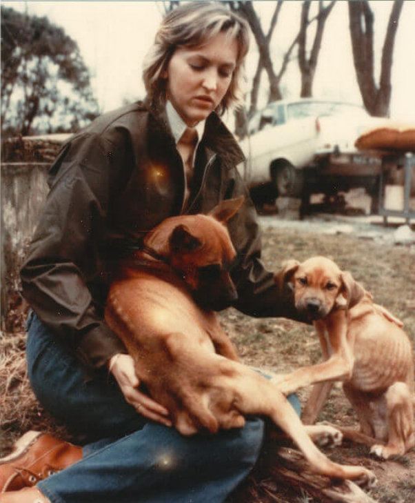 Ingrid Newkrik IEN with dogs