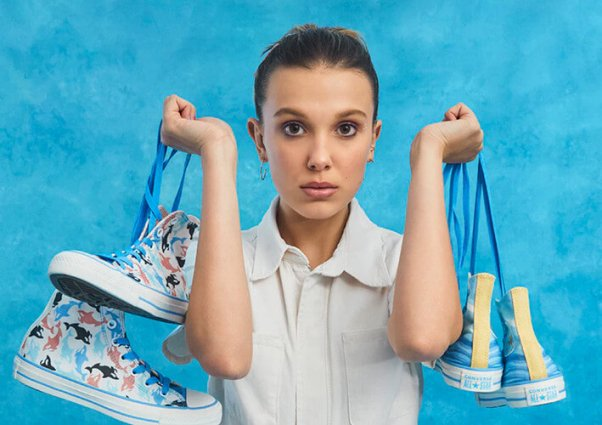 vegan converse sneakers designed by Stranger Things star Millie Bobby Brown