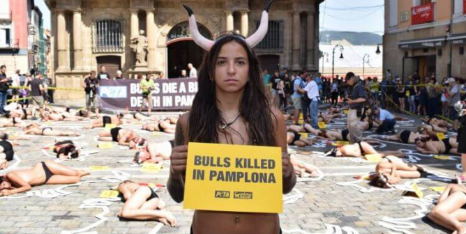 Running of the Bulls 2019: Activists Stage 'Crime Scene' Protest