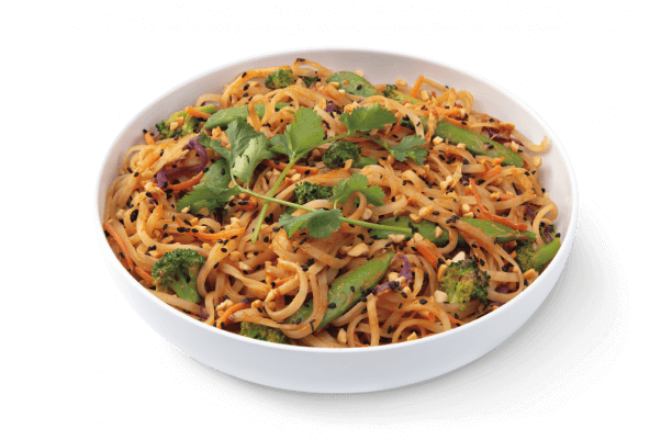 spicy peanut saute at noodles and company is vegan!