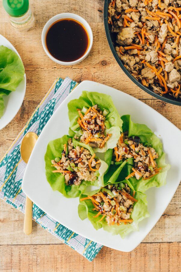 Vegan tofu lettuce cups from Sincerely, Katerina
