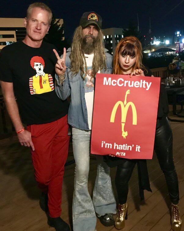 dan mathews, rob zombie, tabitha lopez mcdonalds demo