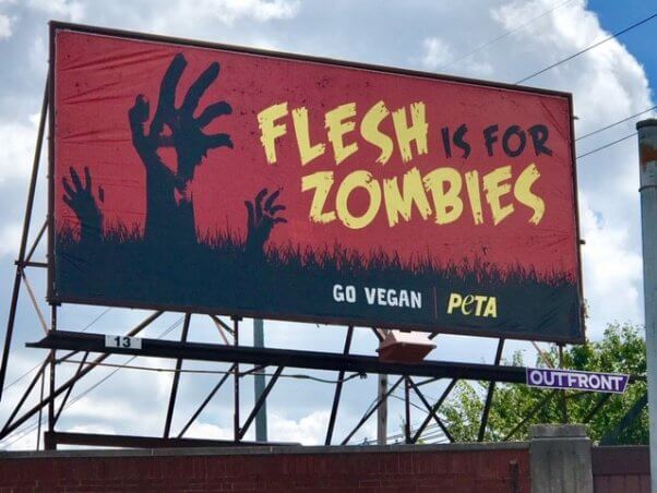 flesh is for zombies peta ad