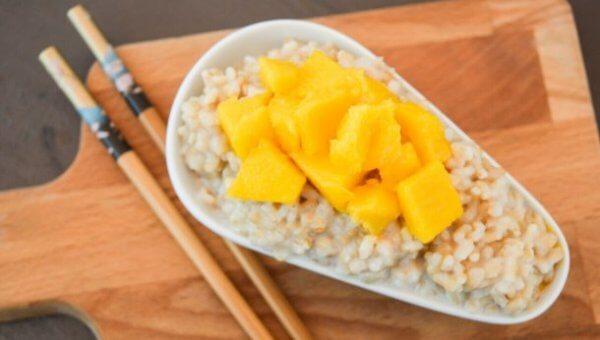 Sweet Coconut Rice and Mango