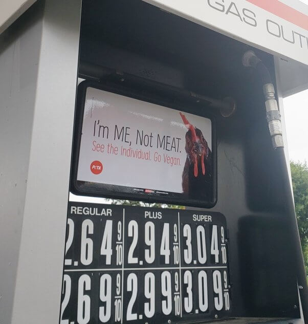 I'm Me Not Meat Gas Station Ads in Buffalo