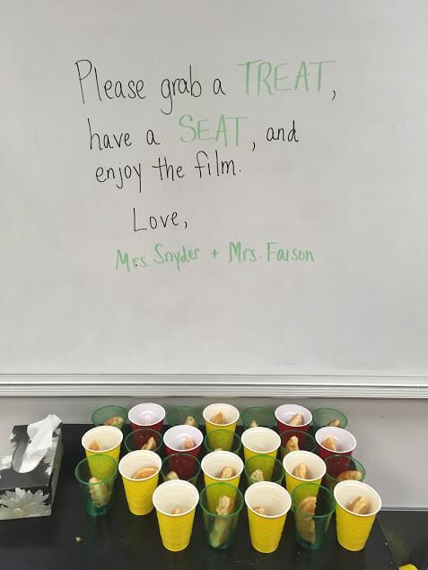megan message in classroom