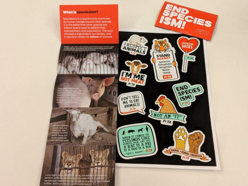 End Speciesism stickers