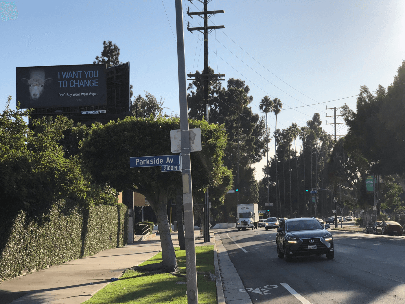 I want you to change billboard los angeles