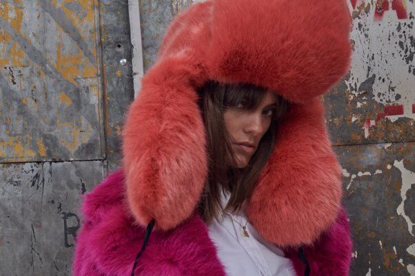 House of Fluff Faux Fur Hat