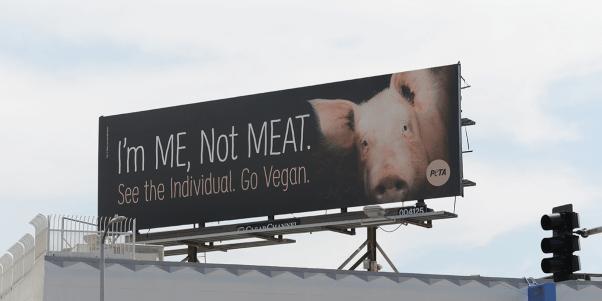 I'm Me Not Meat Pig Billboard