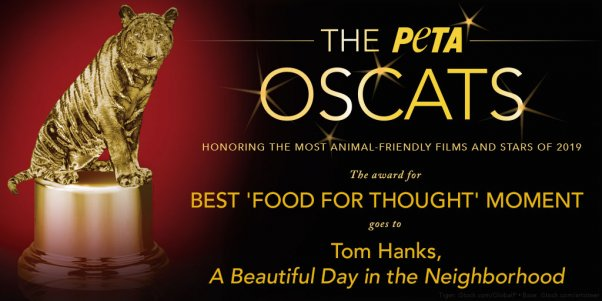 A Beautiful Day in The Neighborhood Wins PETA Oscats Award for Best Food For Thought Moment