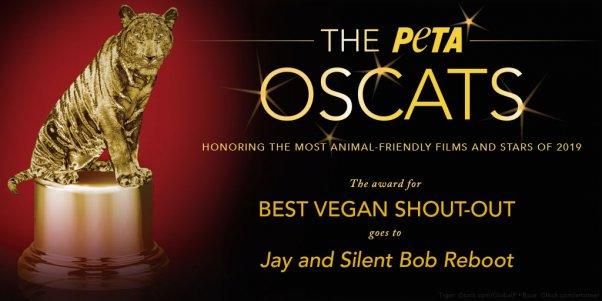 Jay and Silent Bob Reboot Wins PETA Oscats Award for Best Vegan Shout-Out