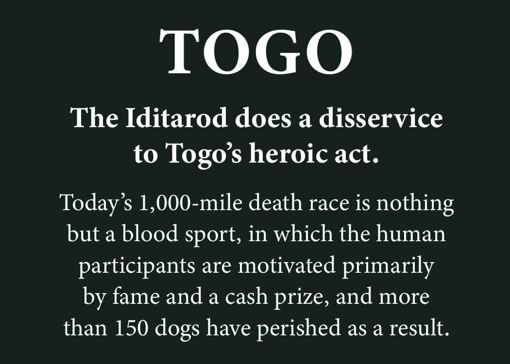 PETA plaque blasts Disney's Togo
