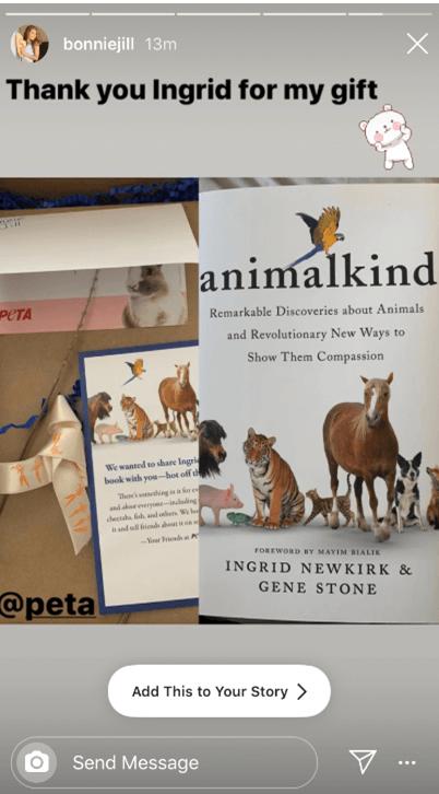 bonnie-jill laflin animalkind reaction