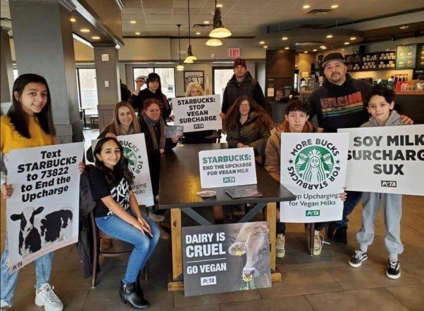 Teens Protest Starbucks NY