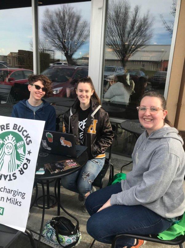 Teens Demo Starbucks WA