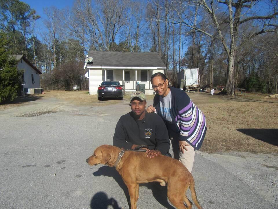 Roshe, a dog helped by PETA's spay/neuter program