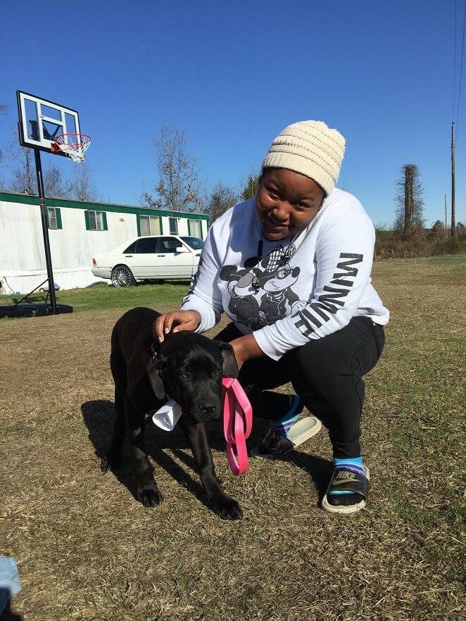 Skye, a dog helped by PETA's spay/neuter program