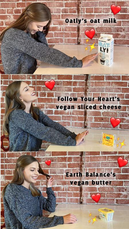 Break up with dairy - try vegan options