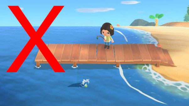 Character Fishing in Animal Crossing New Horizons Videogame