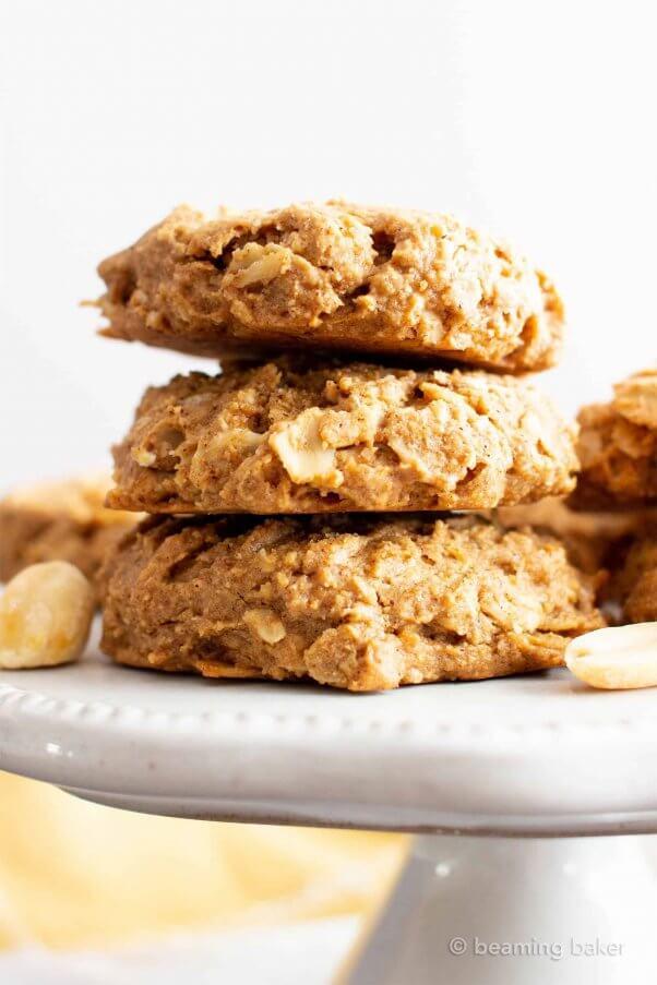 oil free healthy vegan peanut butter cookies
