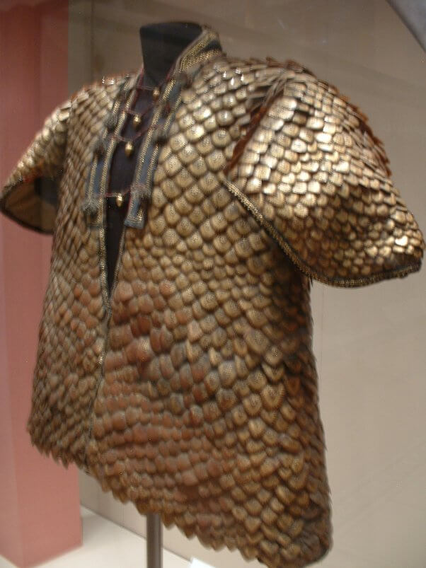 coat made of pangolin scales