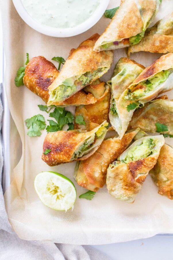 vegan avocado egg rolls cheesecake factory copycat recipe