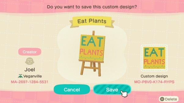 eat plants sign