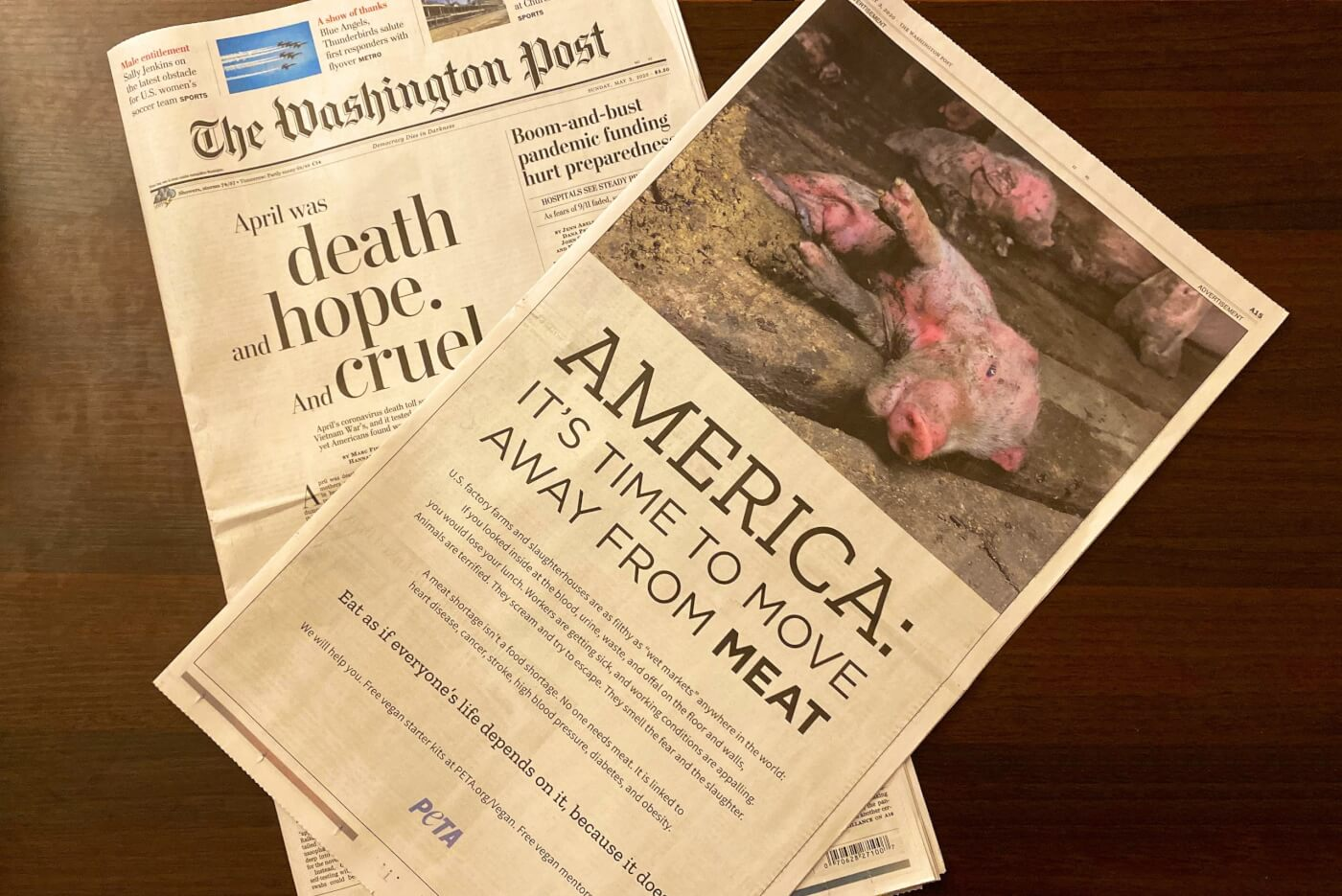 Washington Post PETA ad