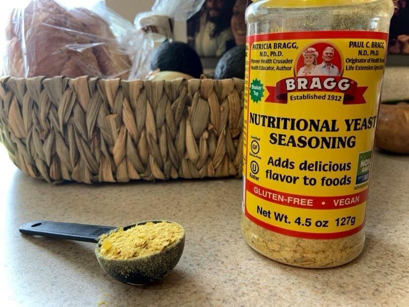 Nutritional yeast, vegan cheese