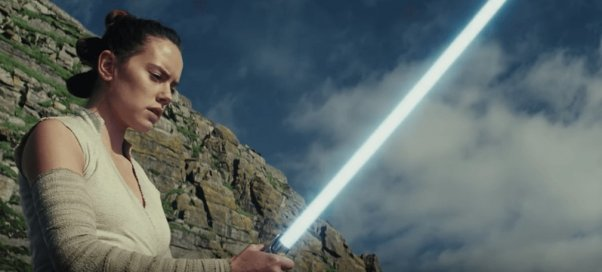 star wars the last jedi rey lightsaber
