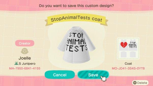 Stop Animal Tests coat