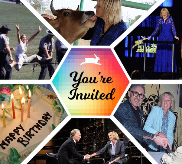 Birthday Fundraiser invite for Ingrid Newkirk