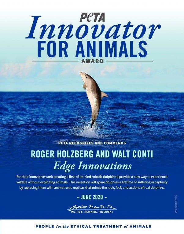robotic dolphin innovators earn award