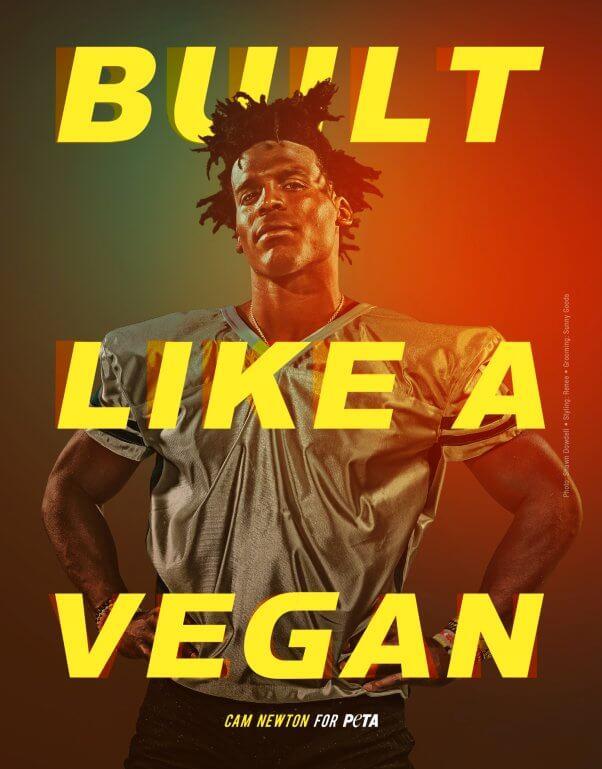 Cam Newton in PETA Vegan Ad Campaign