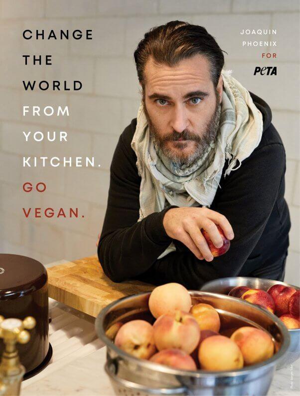 Joaquin Phoenix in new vegan ad for PETA