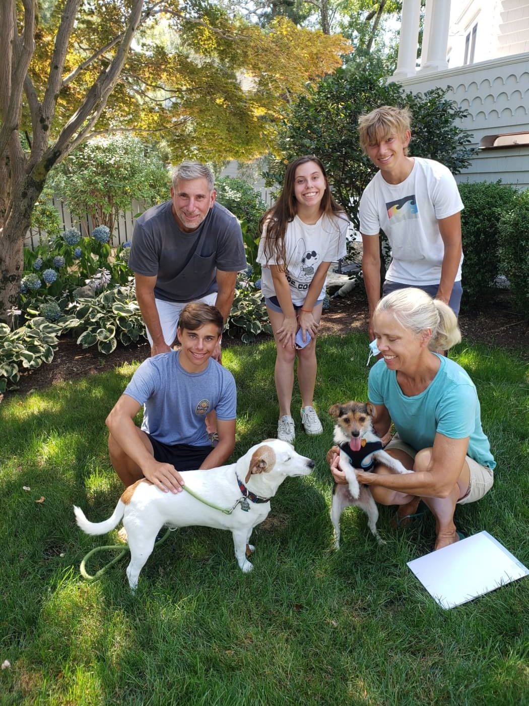 Bonnie with her new loving family