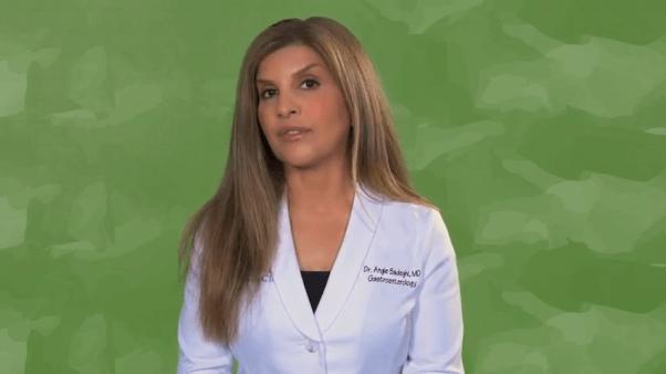 vegan gastroenterologist dr angie sadeghi PETA video 2020