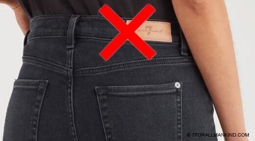 leather patch on 7 jeans