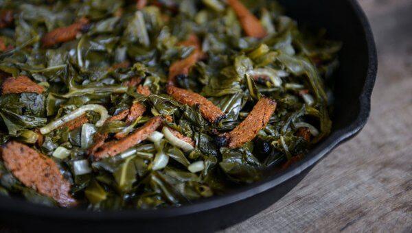 Savory Mixed Greens and 'Bacon'