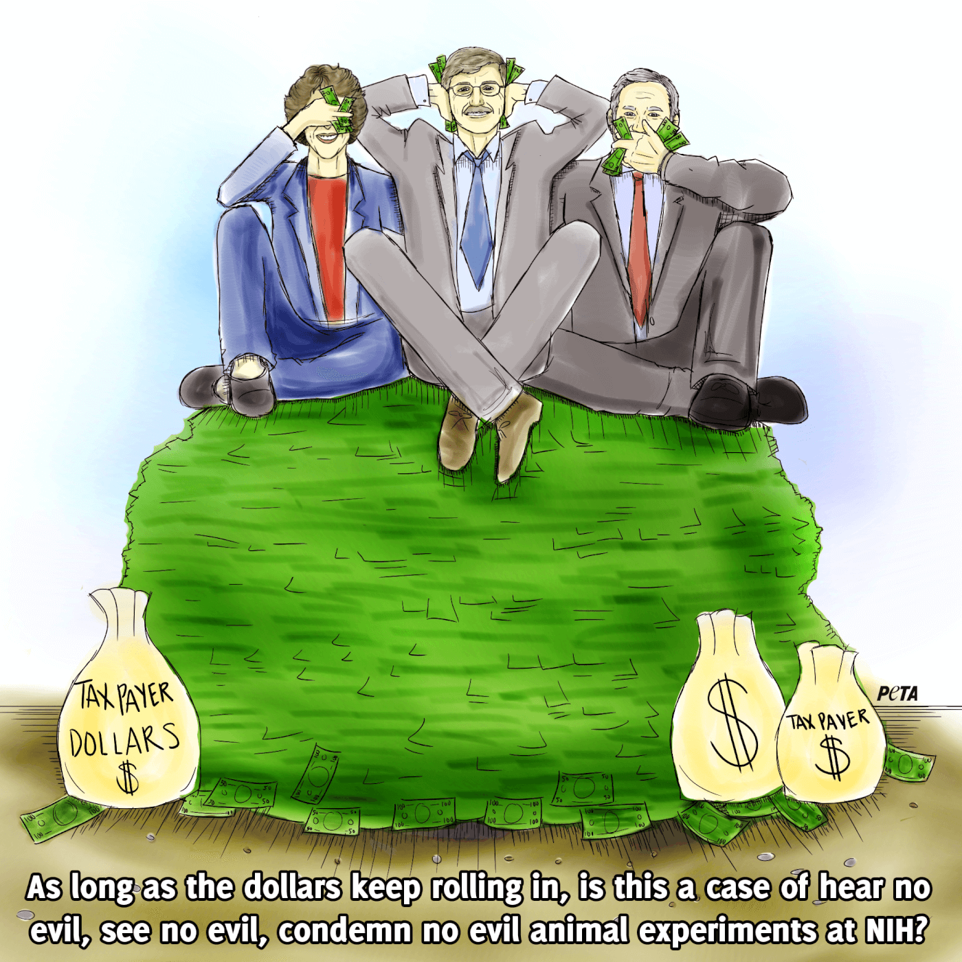 NIH directors sitting on top of taxpayer money