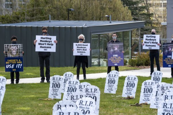 PETA Protest at Washington National Primate Research Center