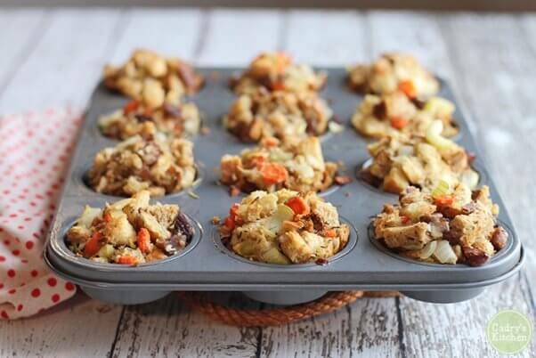 vegan stuffing muffins