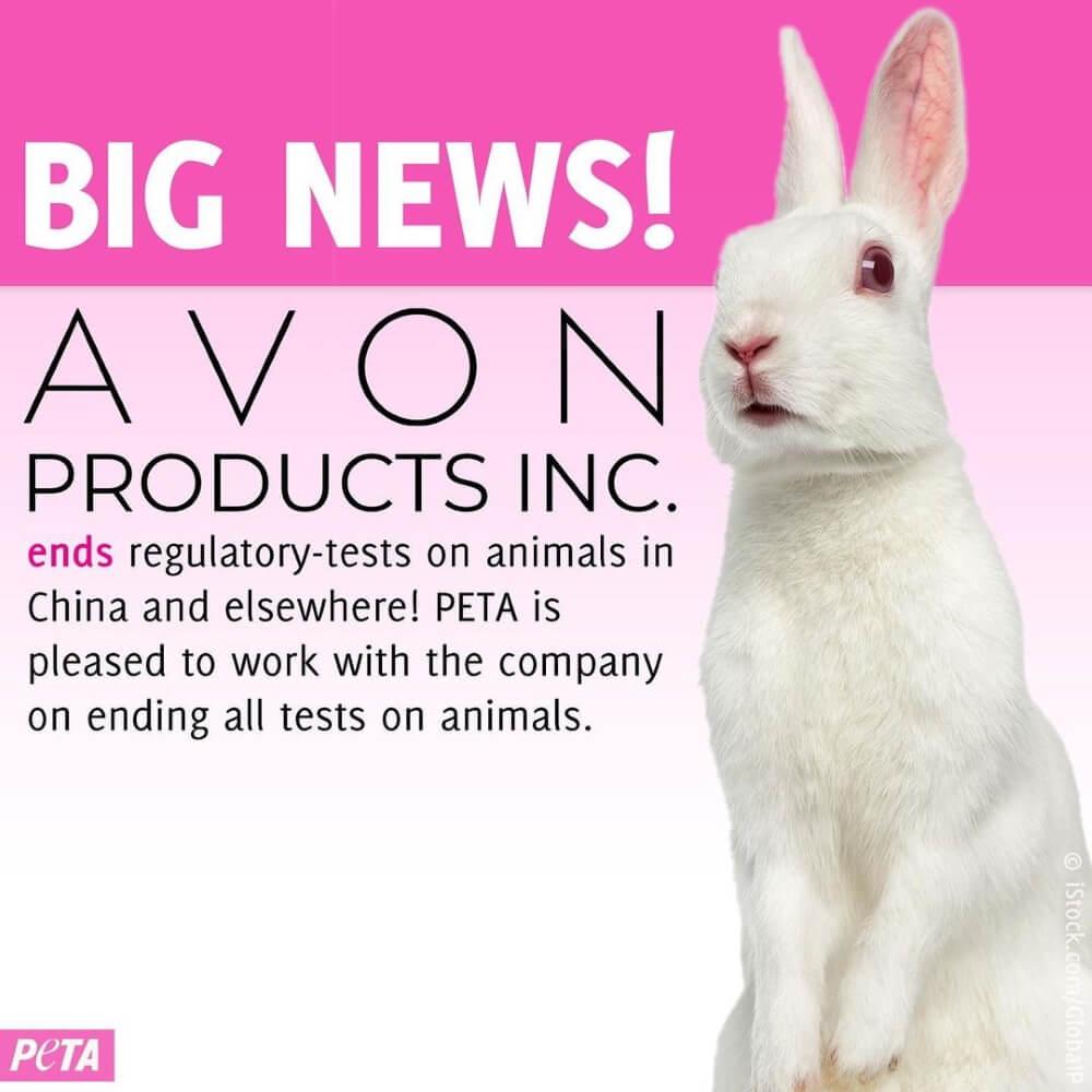 animal testing victory, Avon