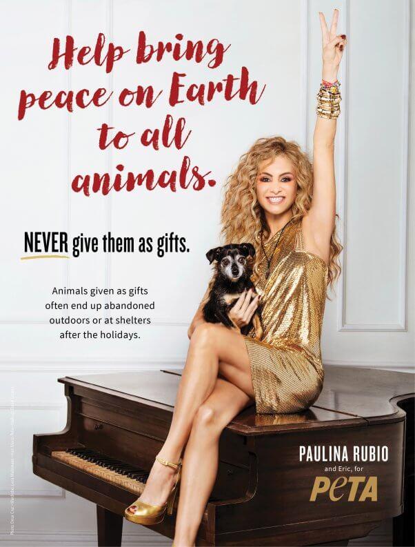 Paulina Rubio and dog