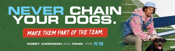 Robby Anderson and Fendi for PETA