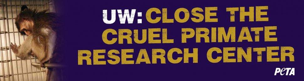 UW: Close The Cruel Primate Research Center