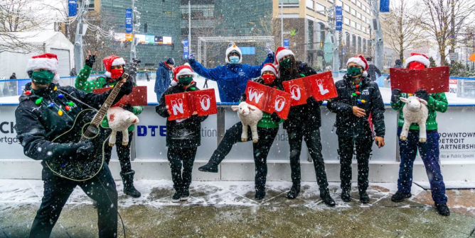 Hark! PETA Carolers in Ugly Sweaters Sing to End Sheep Suffering